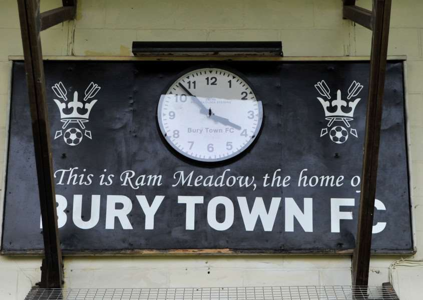 GAME OFF: Bury Town have had to call off their home game with Witham Town