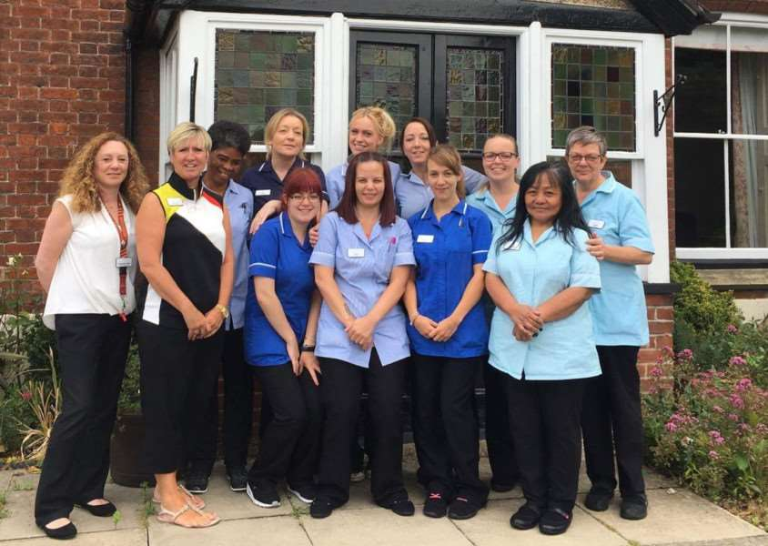 The team at Hillcroft House, Stowmarket, which has maintained its 'good' CQC rating