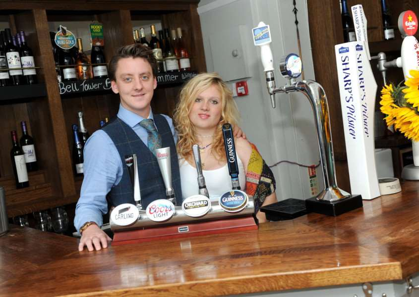 Christian Drysdale and his partner Hannah Pullan have taken over The Six Bells at Horringer for Wild Boar Taverns. Picture: Mecha Morton