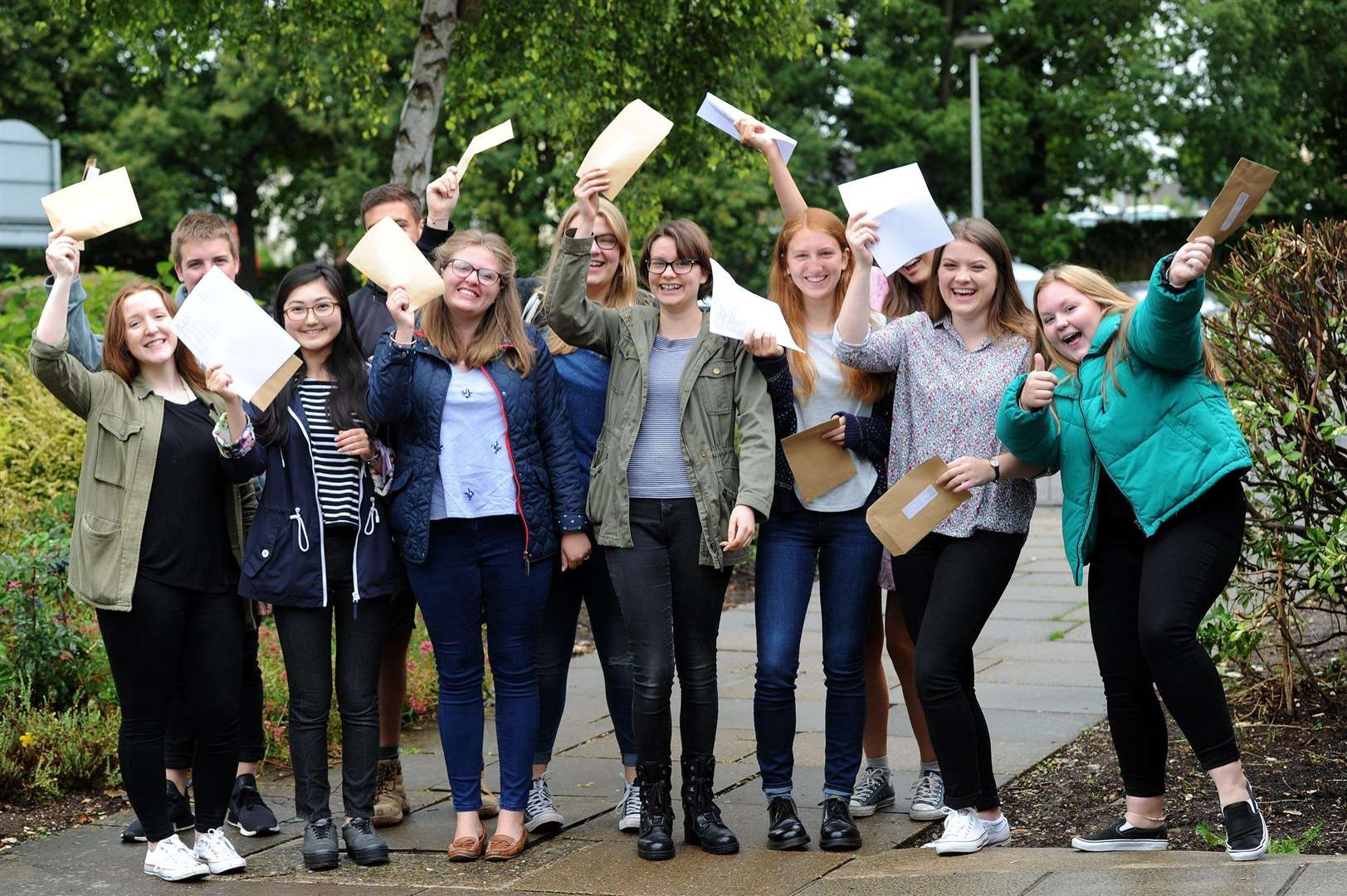 Some of last year's A-level students at Bury's County Upper School