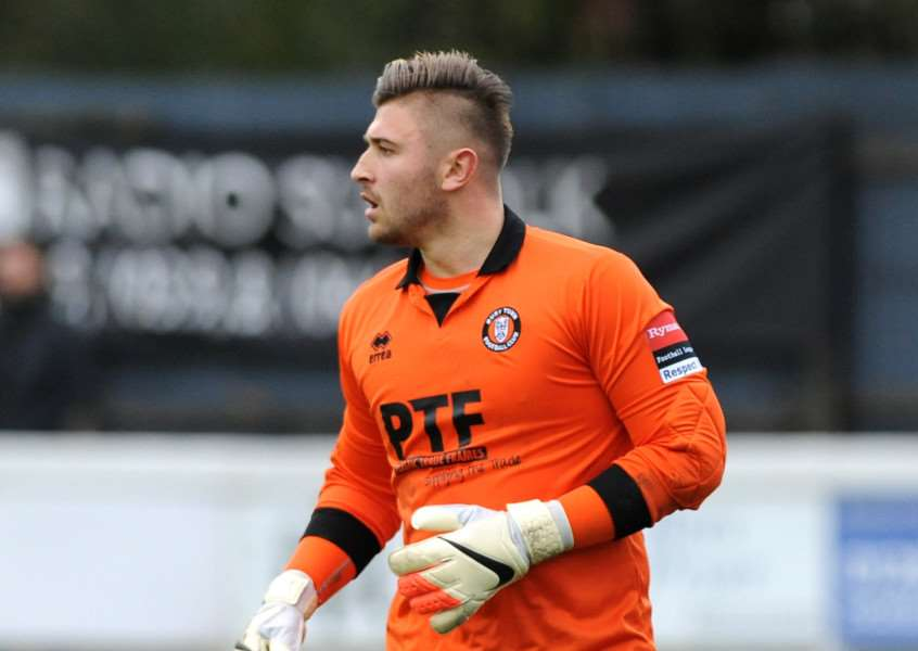 SAFE HANDS: Newmarket's new goalkeeper Alex Archer
