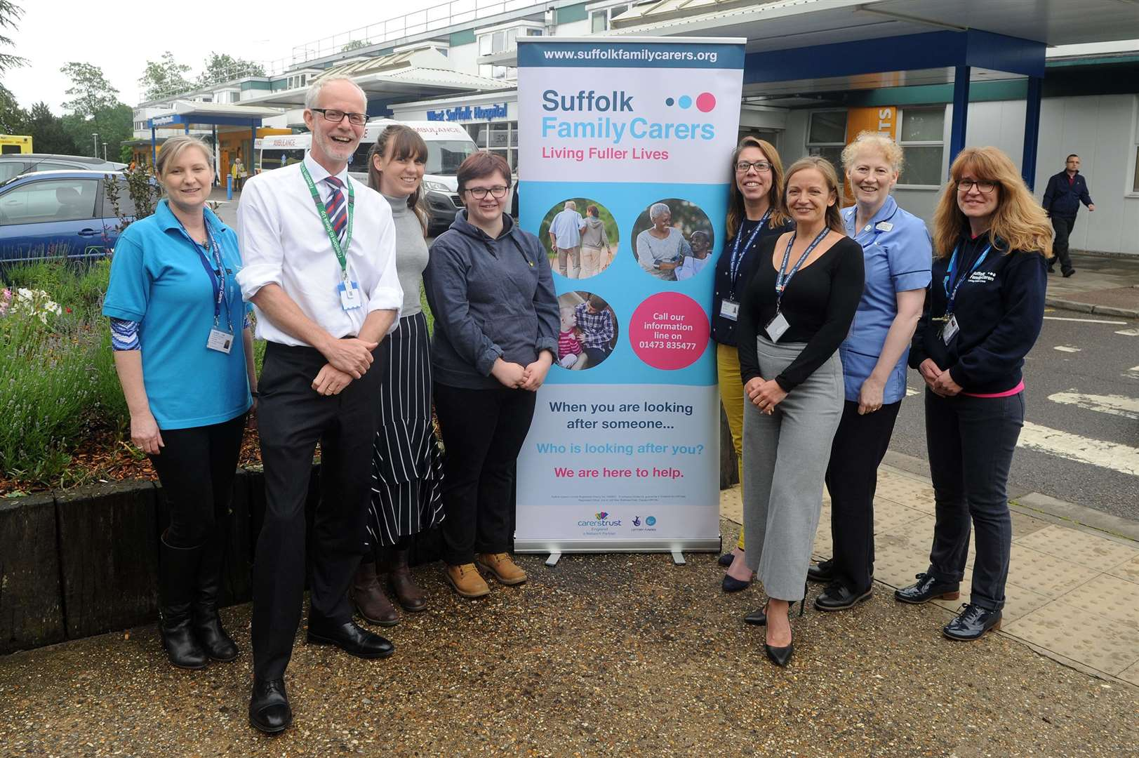 Launch of the Suffolk Family Carers Young Adult Carers NHS ID card at West Suffolk Hospital.....PICTURE: Mecha Morton... (12093786)