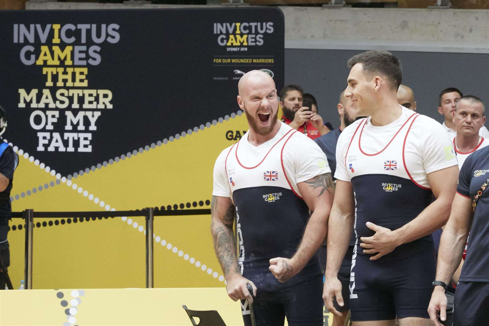 Matt Tate pleased with his competition PB of 132kg in the Midweight category at the 2018 Invictus Games. Picture: COntributed (5147090)