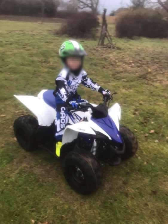A Yamaha YFZ50 quad bike was stolen from a property in Ipswich Road, Hadleigh, between 10pm on March 6, 2019 and 7am on March 7, 2019. Photo supplied by Suffolk Police. (7763248)