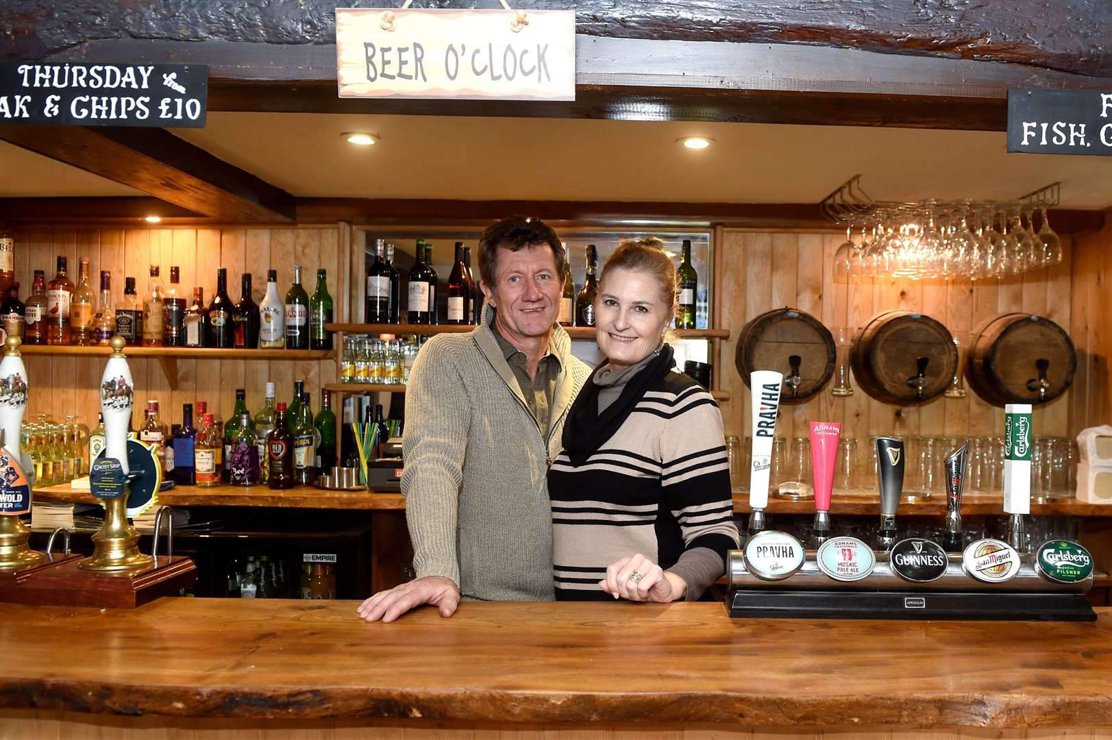 Basie and Ellie van Rooijen have bought the The Three Ways pub and restaurant in Cowlinge and are opening it this Saturday. Picture by Mecha Morton