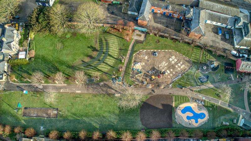 Town's refurbished gardens on schedule for official opening in April
