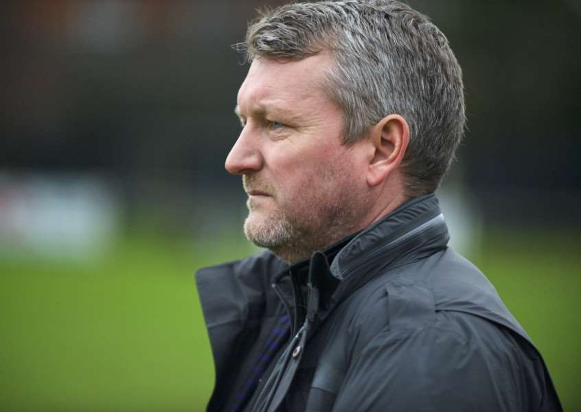 LATE PUSH: Halstead Town boss Mark McLean