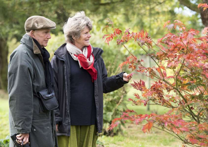 Daws Hall Nature Reserve, Henny Road, Lamarsh, Bures 'Daws Hall Autumn Colours Event - final family open day of 2017.'Barrie and Loesje Houghton from Woodbridge'Picture Mark Westley
