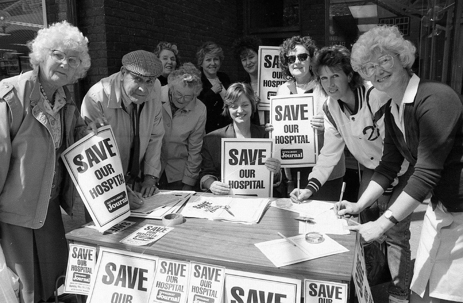 Newmarket Hospital petition 1991 (3299494)