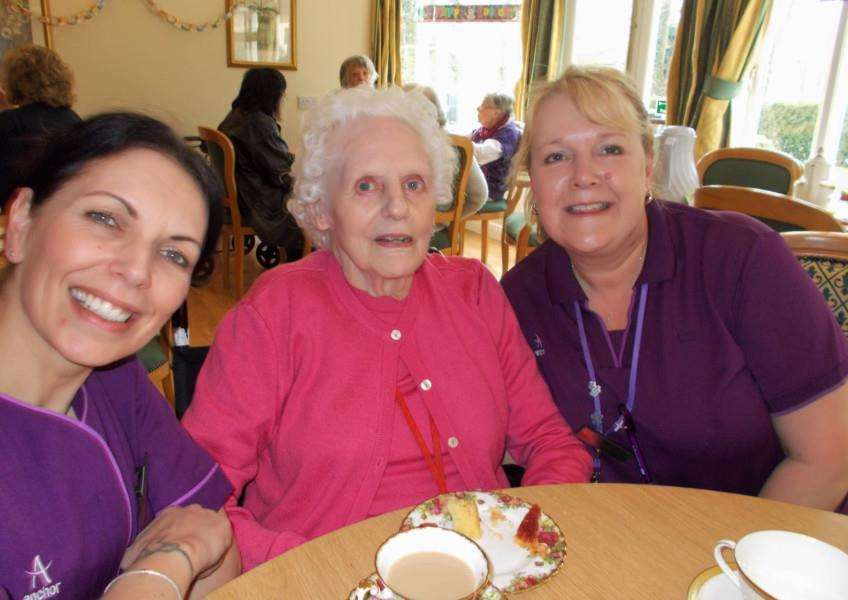 Tea party at St Josephs Care Home, Sudbury ANL-160329-172925001