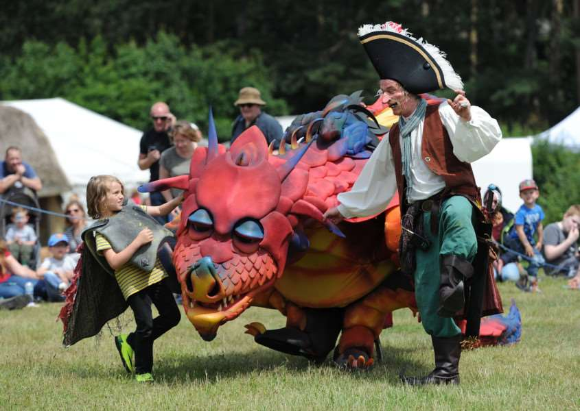 West Stow Dragon Festival 2016''Pictured: Epico the Dragon ANL-160626-201510009