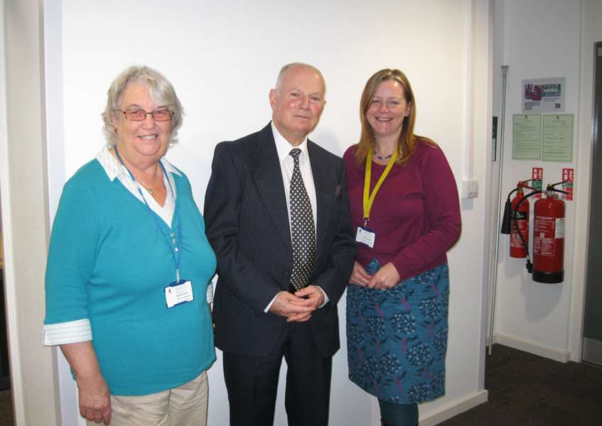 From left to right: Linda Pumfrey (Haverhill Citizen's Advice Bureau) Geoffrey Pickess (guidance specialist) and Tania Irvine (Haverhill Citizen's Advice supervisor) ANL-151113-121644001