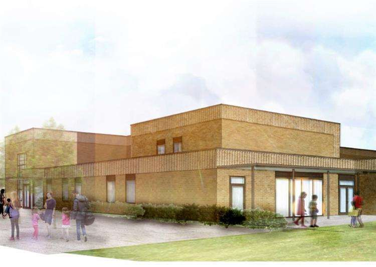 An artist's impression of the new primary school for Lakenheath