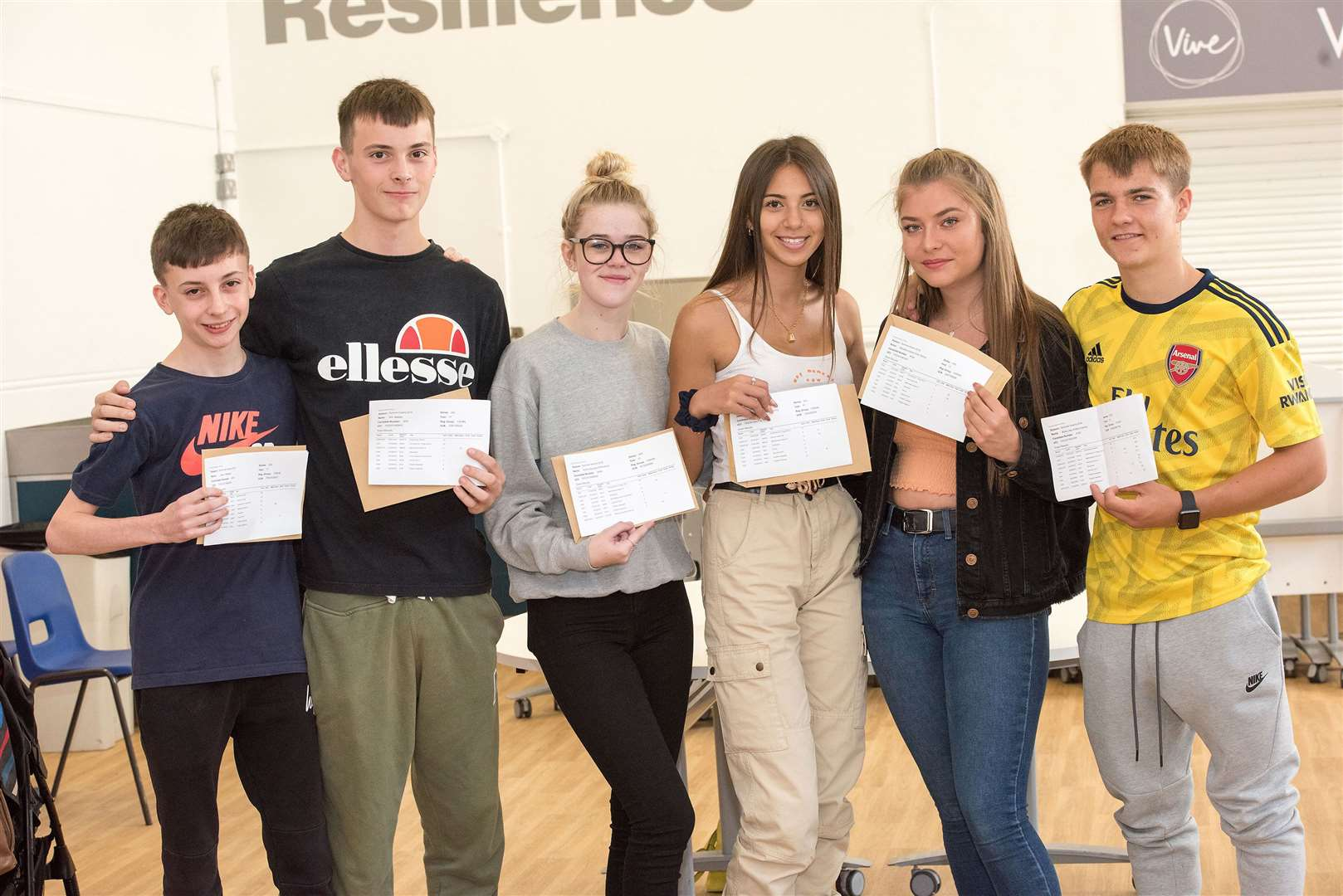 Newmarket Academy GCSE results day (Picture by Mark Westley)