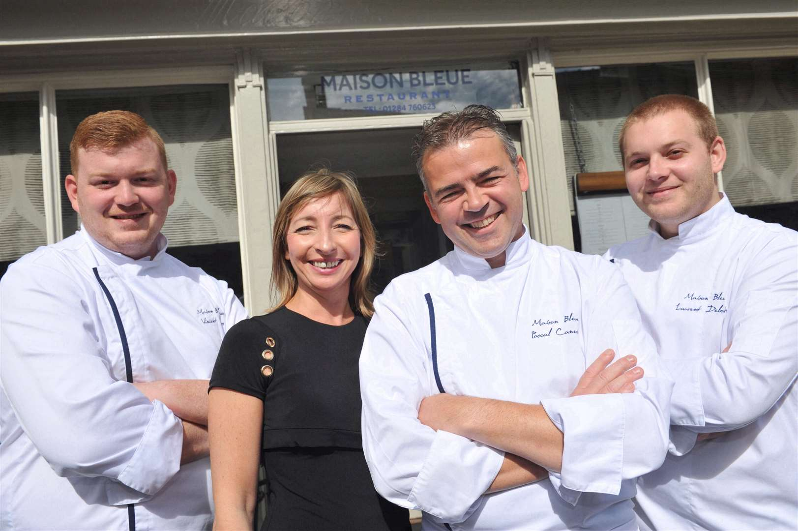 Vincent Gross: sous chef, Karine Canevet: patron, Pascal Canevet: chef patron, Laurent Deloutre: junior sous chef (3477255)