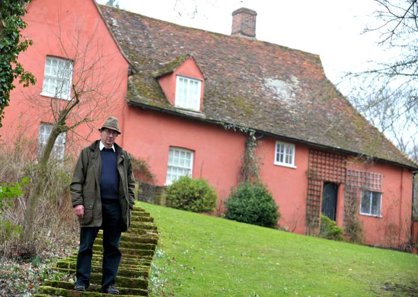 Michael Evans has had a setback in his battle against plans for 170 homes in Great Cornard, which he says will spoil views from Abbas Hall and from Great Cornard.''FL: Michael Evans in front of Abbas Hall.