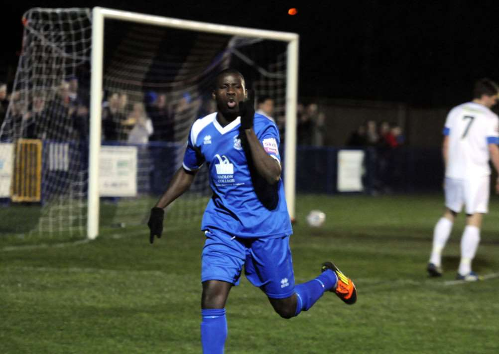 Michael Bakare, pictured playing for Tonbridge Angels last season