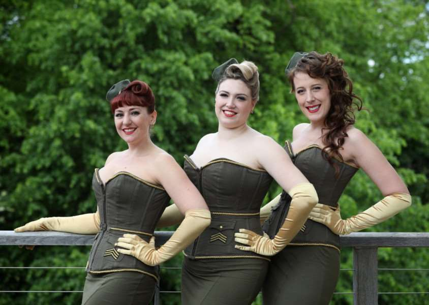 Hedingham Castle Vintage Affair 2017 - The Rockabellas. Picture submitted.