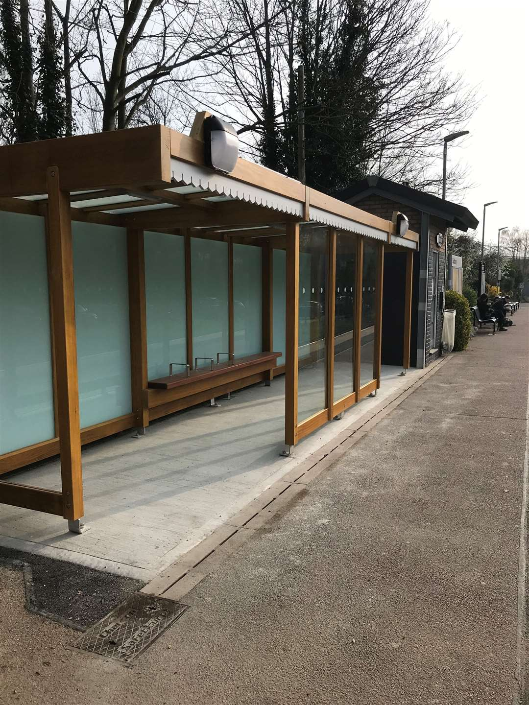 A new shelter has been installed at Sudbury railway station, as part of more than £50,000 of upgrades. Photo supplied by Greater Anglia. (9945300)
