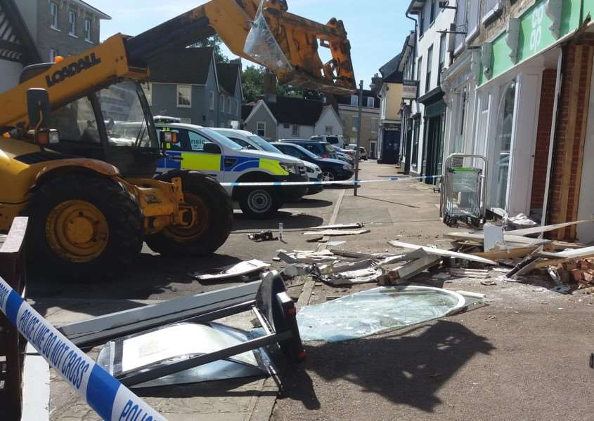 Images of the aftermath of the ram raid in Clare. Submitted photo. ANL-161109-141925001