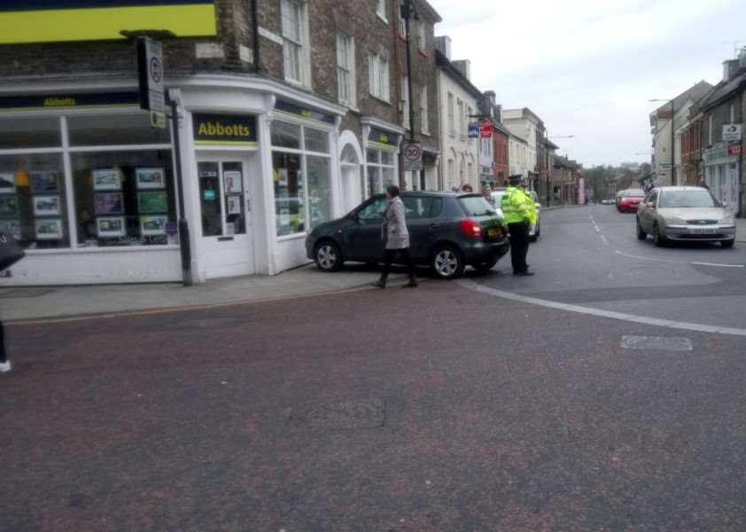 A car was involved in a collision with Abbotts estate agents, in Risbygate Street, Bury St Edmunds