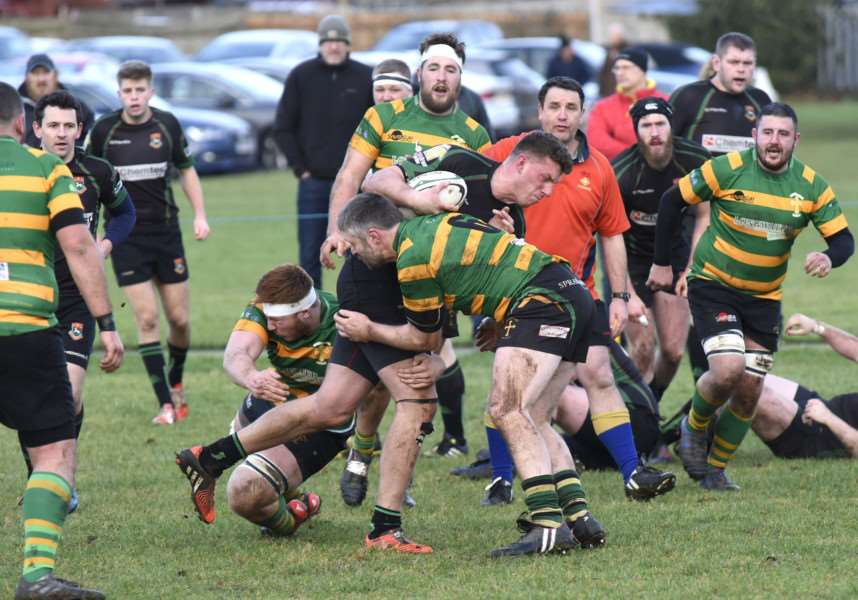BODY ON THE LINE: Newmarket's Joe Stafford attempts to gain some ground during the narrow home defeat to Crusaders
