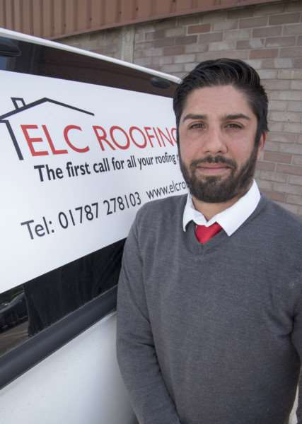ELC Roofing owner Edward Carlo Suffolk Business Park'Picture Mark Westley ANL-160524-234725009