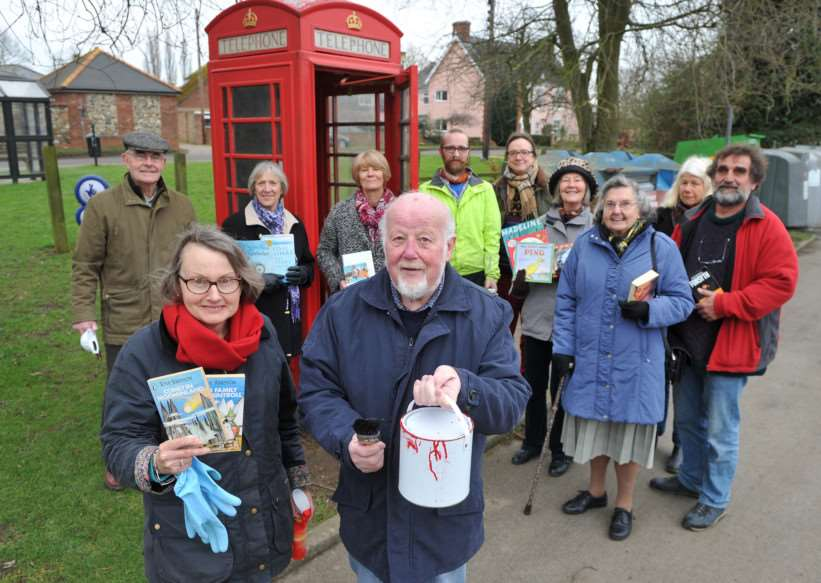 Residents in Barrow are helping to convert the old phone box into a book exchange. ANL-150127-152821009