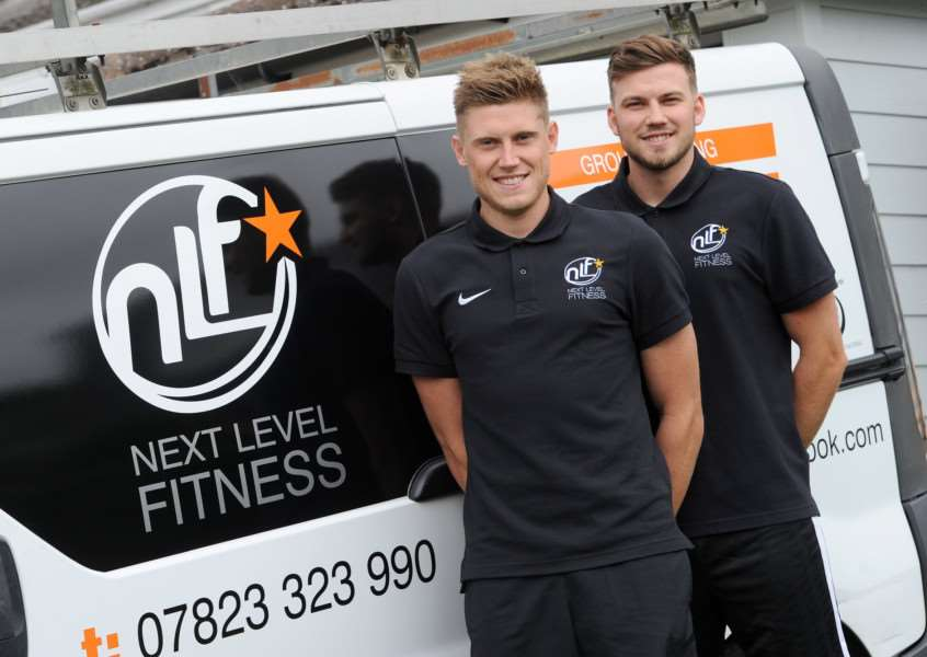Ben Robinson has launched Next Level Fitness, a personal fitness business, and is being helped out by his brother Joe PICTURE: Mecha Morton