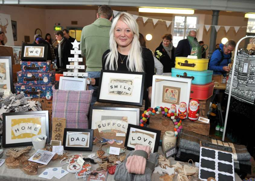 Hayley Peters pictured at last year's Ivy Joan & Friends market in Bury St Edmunds