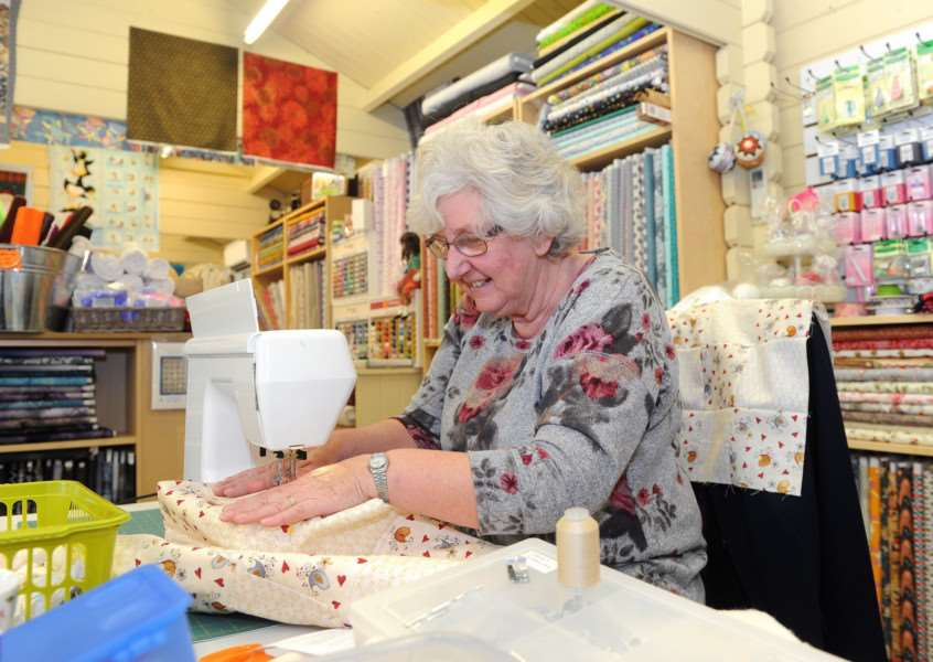 Heart cushions and quilts are being made for West Suffolk Hospital''Pictured: Janet Dowling