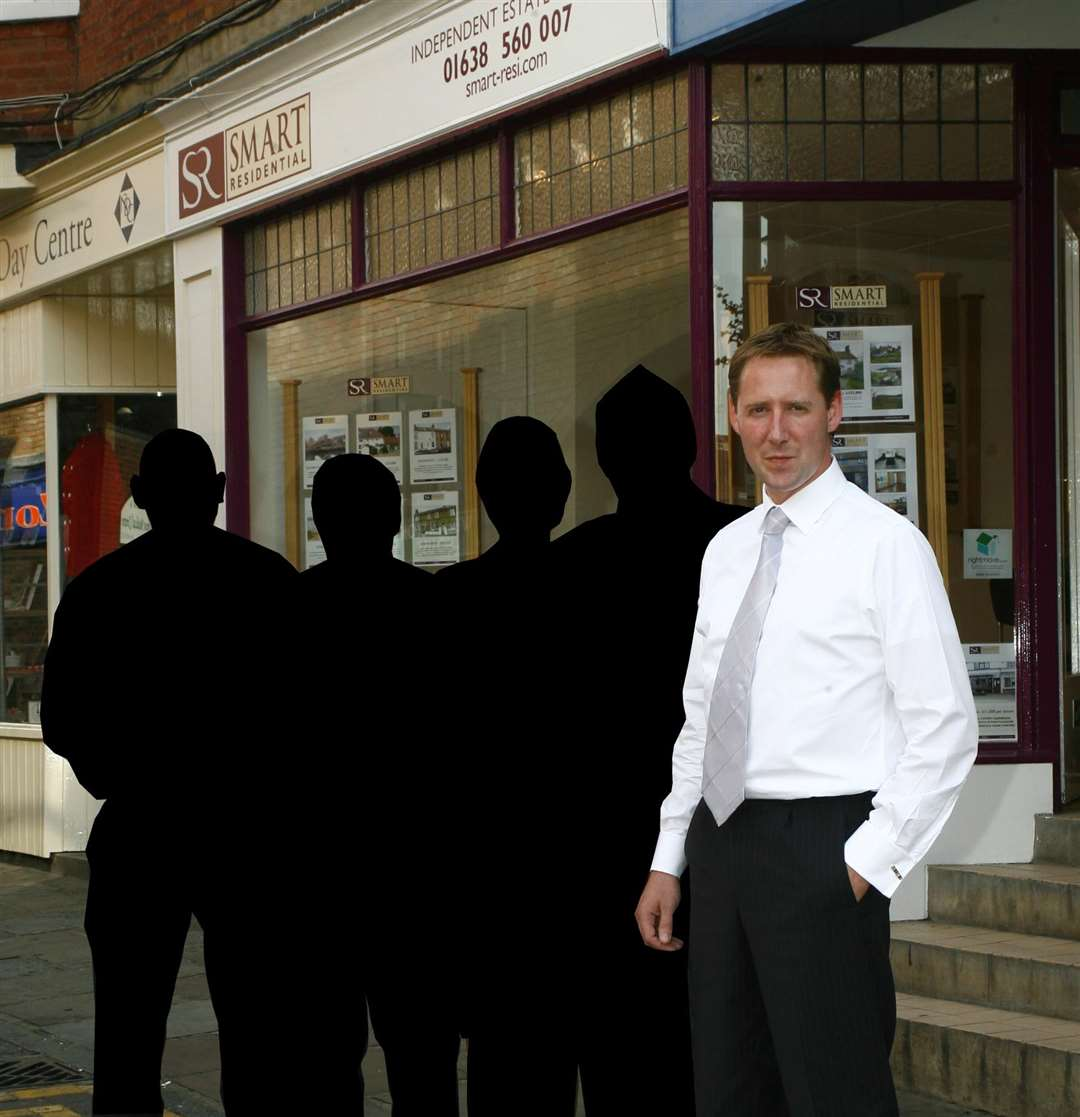 Have you seen Frank Smart? Pictured in 2008 outside his Wellington Street estate agent in 2008 (4151010)
