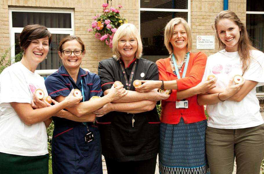 From left: Jo Elliott, Addenbrooke's Charitable Trust; Jo Rowley, Lead Specialist Breast Care Nurse; Emily Willdigg, Addenbrooke's Charitable Trust