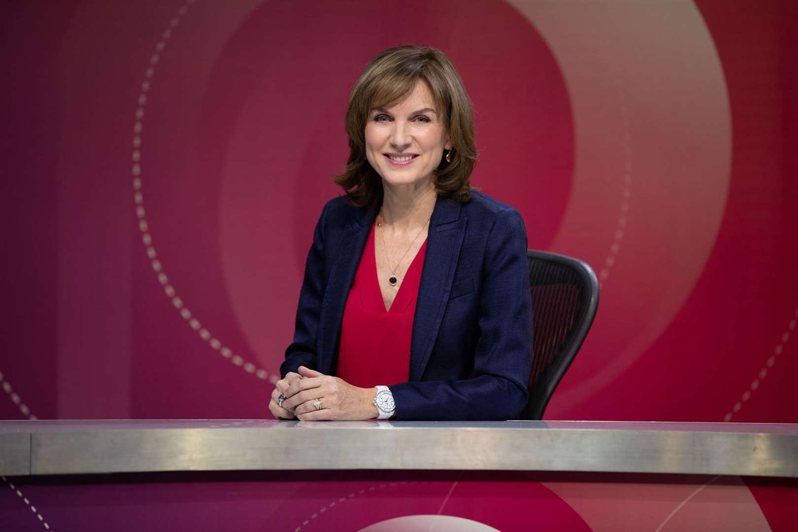 Fiona Bruce hosted the lively Question Time from Thetford - (C) BBC - Photographer: Richard Lewisohn