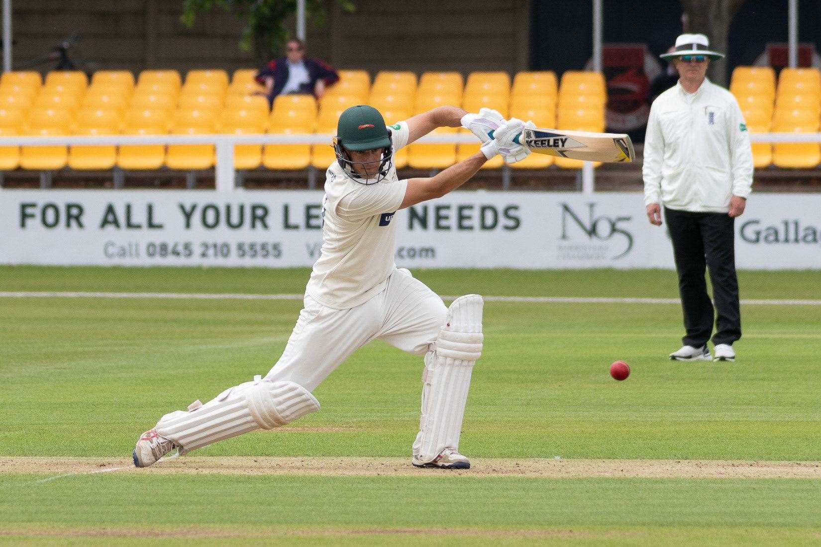 Neil Dexter, Suffolk's new white-ball professional, batting for Leicestershire last season Picture: Leicestershire CCC (21981487)
