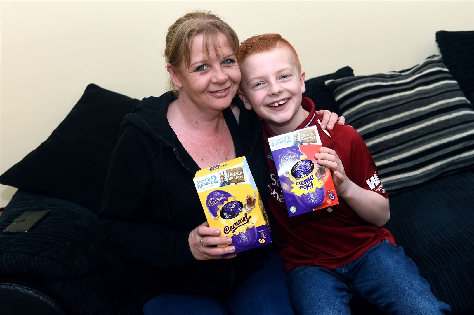 Blake Leonard, who is a young carer at the age of 11, is collecting easter eggs to donate to other carers..Having launched the project last year, which proved a big success, he is hoping to reach his target of 500 eggs for carers across the county as well as neighbouring areas....Picture: Blake Leonard and his mother Libby..PICTURE: Mecha Morton .... (30165736)