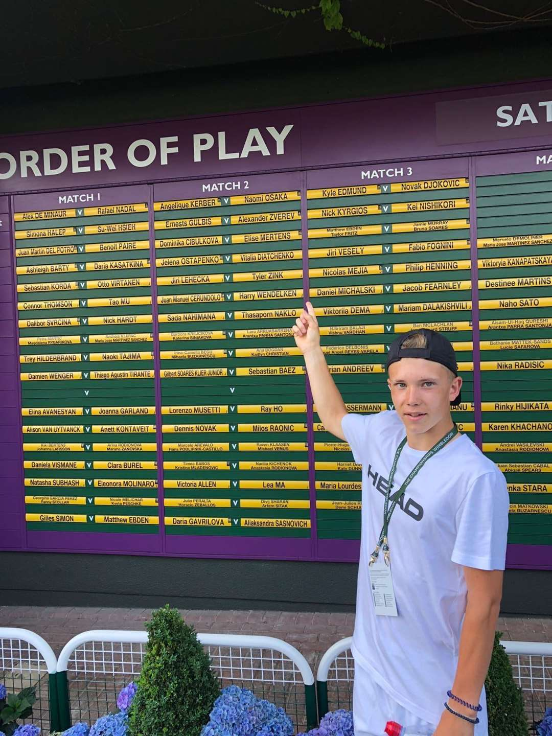 Harry Wendelken, competed in his first Junior Wimbledon in 2018 (13238490)