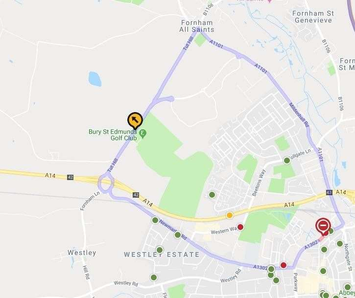 Tayfen Road closure. Picture: roadworks.org