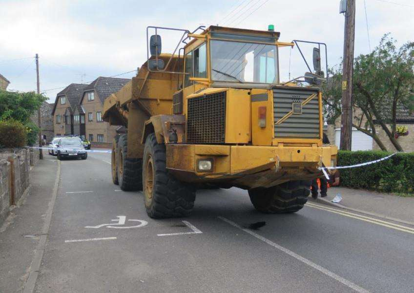 Dumper truck used in July incident