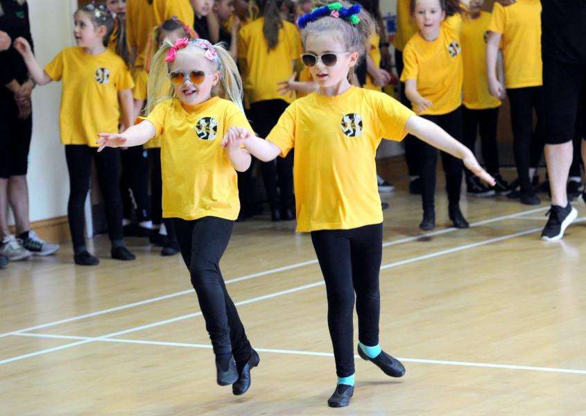 Megan Banks, of Hitcham, joined fellow pupils from Miss Lesley's School of Performing Arts to raise funds towards a �2.5 million upgrade of Ipswich Hospital's children's department.''''PICTURE: Mecha Morton