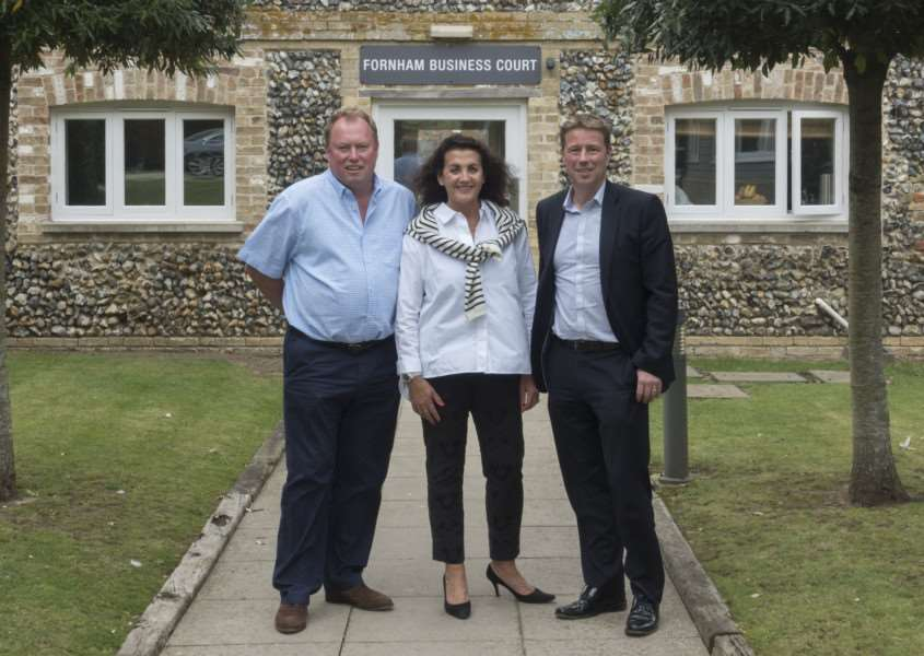 Ashtons Legal is moving to new premises at Fornham Business Court at Fornham St Martin. Pictured are Ashtons CEO Edward O'Rourke, with Andrew and Gina Long from Hall Farm, Fornham