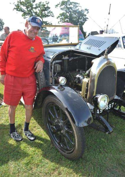 Kingsley Curtis with his 1924 Bean at the 2013 Classic and Sports Cars by the Lake show ENGANL00620130209093331