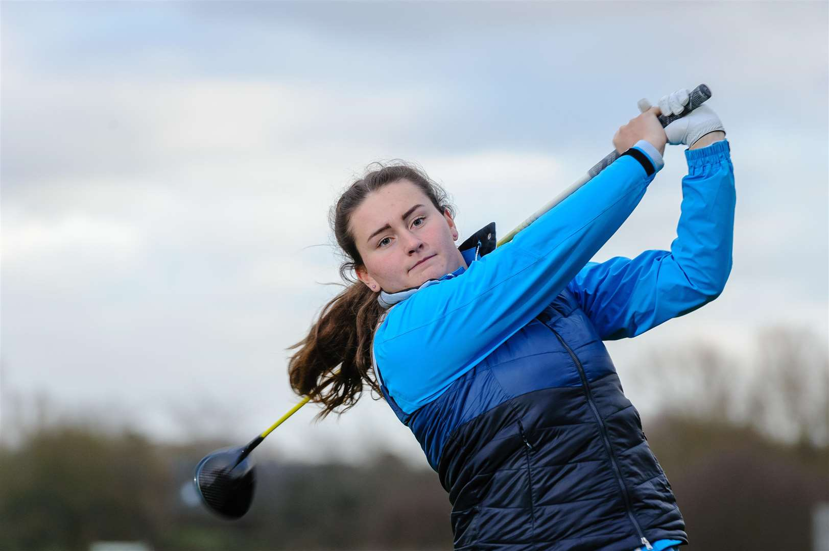 Stoke By Nayland - Golfer Lily May Humphreys, 16 of Great Cornard. ..Picture by Mark Bullimore Photography. (6407439)