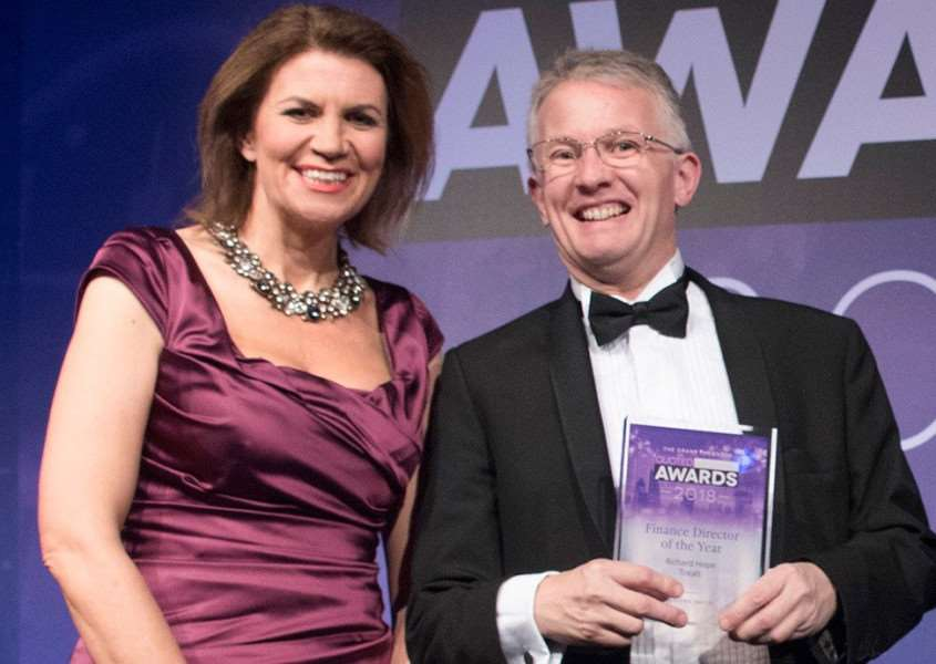 Treatt's CFO, Richard Hope, won Financial Director of the Year award at the Grant Thornton Quoted Company Awards 2018
