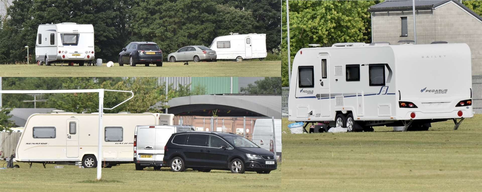 Travellers at Newmarket's George Lambton Playing Fields (14105901)
