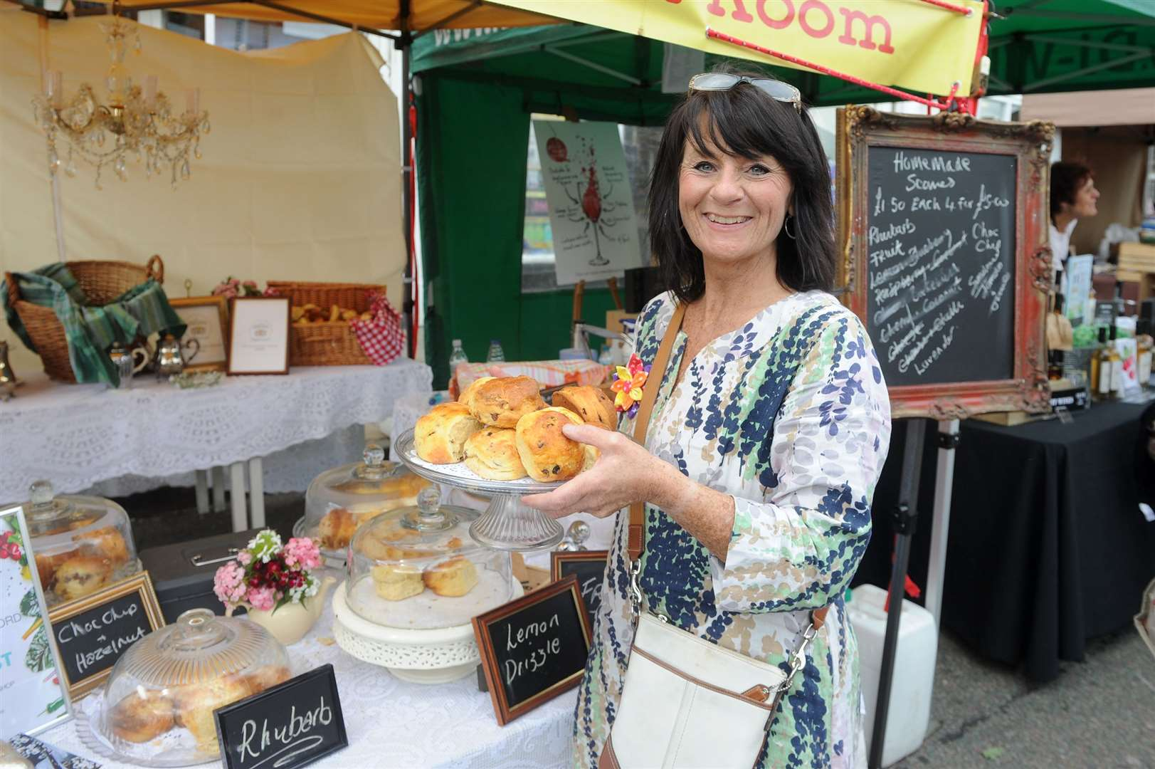Taste of Sudbury food festival 2019..Pictured: Owner of The Long Melford Tea Room Terese Broadbent with her stall ...PICTURE: Mecha Morton... (12037065)