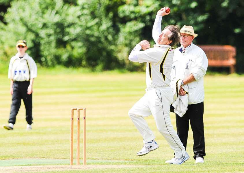 AWAY DEFEAT: Martin Kingdon (2-48) grabbed two wickets in Mildenhall II's 18-run defeat at Long Melford