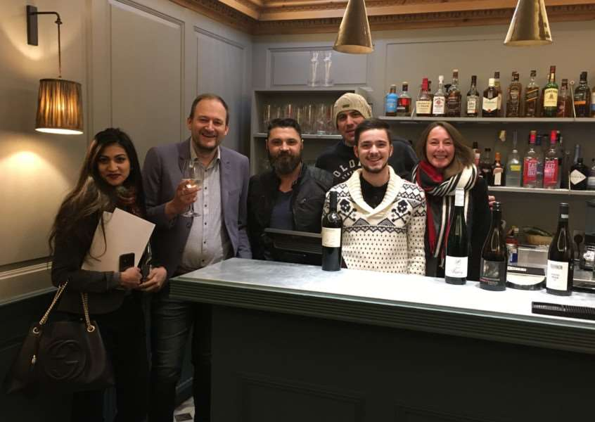 Staff from TA Hotel Collection have been accredited with awards in wine. Left to right: Shuhana Khatun, Mark White, Nicolae Arcalean, Rob Dixon, Pierre Crespin and Sara Le Fanu.
