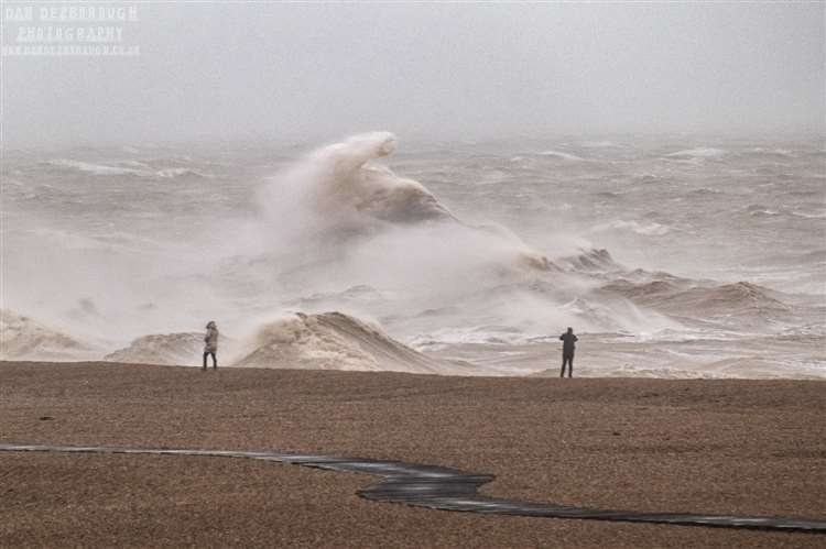 Storm Ciara caused huge waves on Folkestone seafront. Picture: Dan Desborough Photography (29201964)