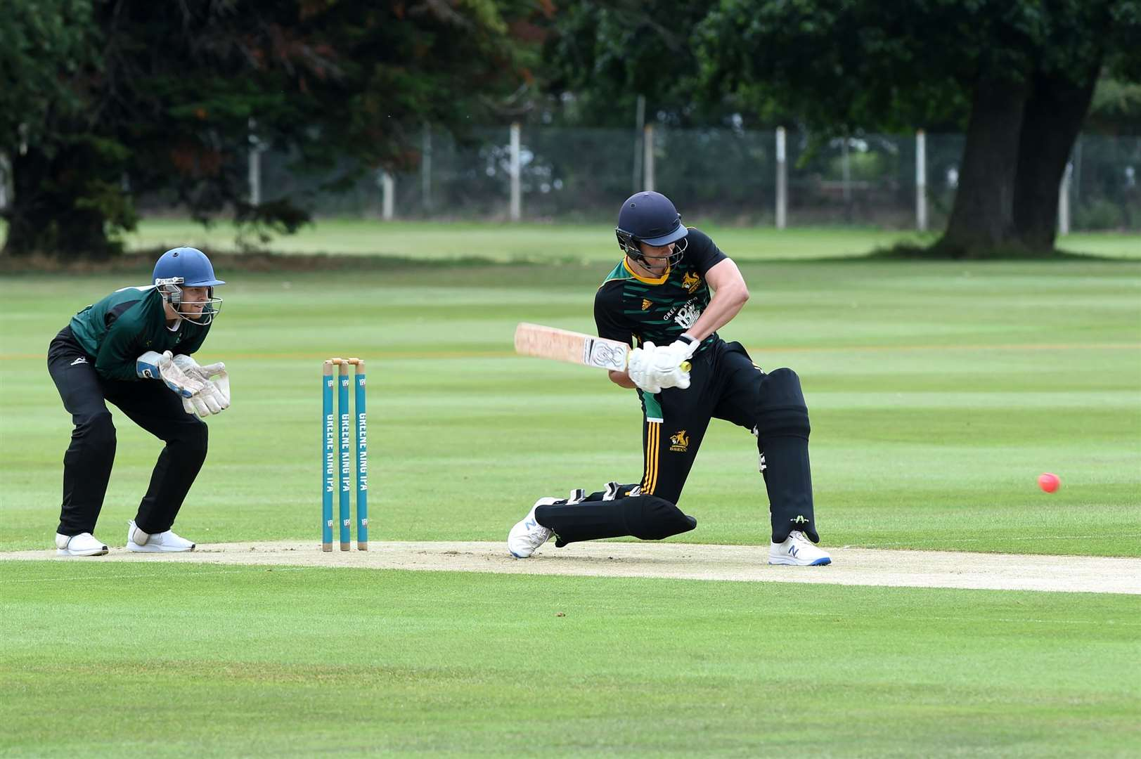 CRICKET - Bury St Edmunds (B) v Burwell & Exning (BE)..Pictured: Justin Broad batting (B)...PICTURE: Mecha Morton.... (38778582)